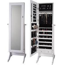 Storage Armoire Cabinet Btexpertstylish Wooden Jewelry Armoire Cabinet Stand Organizer