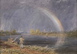 david cox a rainbow over the thames at oxford pictures lowell