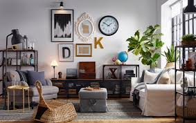 ikea livingroom industrial looks for your living room