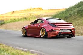 red nissan widebody red nissan 350z stanceda and put on gold avant garde