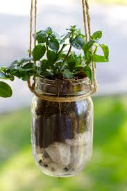 diy mason jar hanging herb planter u2013 ramshackle glam