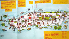 New York On Map Download Manhattan Map Of Attractions Major Tourist Attractions Maps