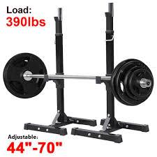 yaheetech 2pcs adjustable rack standard solid steel squat stands