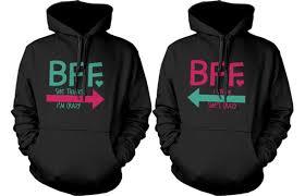 sweater bffhoodies bff matching hoodies best friends hoodies