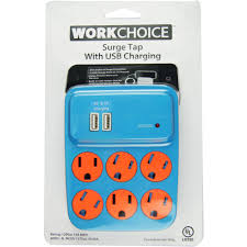 Workchoice Outdoor Grounded Outlet With by Workchoice 6 Outlet Indoor Surge 245 Joules Tap With Usb Total