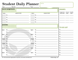 printable organization quiz for students student daily planner school oremedy get organized be successful