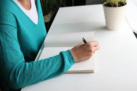 free photo writing blue desk write hand free image on