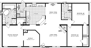 three bedroom mobile homes l 3 bedroom floor plans