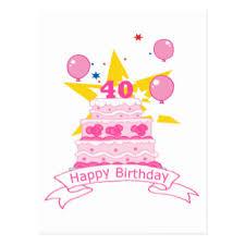 40 year old birthday cake cards greeting u0026 photo cards zazzle
