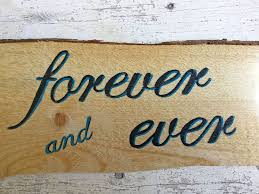 Quote Signs Home Decor by Forever And Ever Wood Quote Signs About Love Wall Decor U2013 Rocky