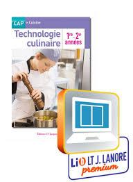 technologie cuisine cap technologie culinaire 1re et 2e ées cap cuisine manuel