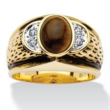 eye shaped rings images Palmbeach jewelry men 39 s oval shaped genuine tiger 39 s eye crystal
