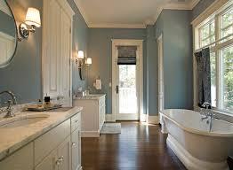 Round Mirror Bathroom Bathroom Traditional With Round Mirror - White cabinets dark floor bathroom