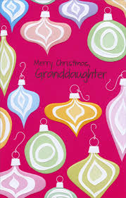 colorful embossed ornaments granddaughter card by