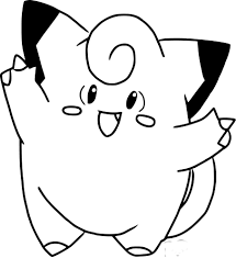 awesome free princess coloring pages 9 pokemon clefairy