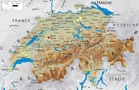 Swiss Alps Map Switzerland