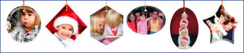 personalized custom photo ornaments and decorations