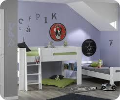 chambre fille avec lit mezzanine lit mezzanine enfant wax blanc 90x190 cm