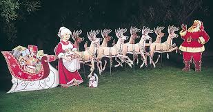 Christmas Outdoor Decorations Santa christmas deer lawn decorations home decorating interior design