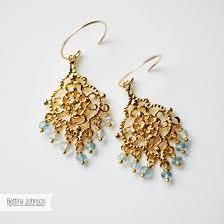 gold chandelier earrings gold aquamarine chandelier earring