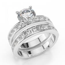 diamond wedding ring sets swarovski pb wedding bridal set enchantment premier 1 carat