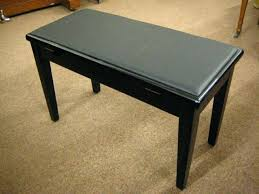 piano bench with storage chase duet piano stool bench high gloss