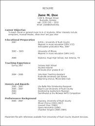 Resume Self Employed Sample Music Resume Template Resume Templates