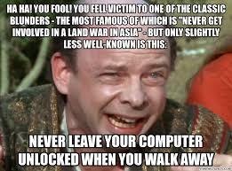 Asia Meme - ha ha you fool you fell victim to one of the classic blunders