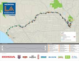 Nyc Marathon Route Map L A Marathon Route Los Angeles On Sunday March 20 2011 The