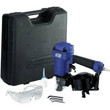 Central Pneumatic Framing Nail Gun by Campbell Hausfeld Pneumatic 15 Degree Coiled Roofing Nailer With