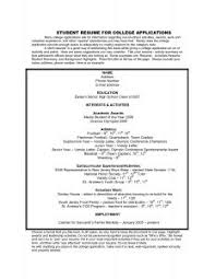 Resume Templates For College Applications Examples Of Resumes 85 Stunning Sample Simple Resume A Very