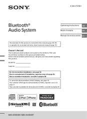 sony mex n4100bt manuals
