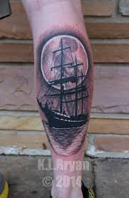 sail boat or pirate ship tattoo by danktat on deviantart