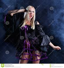 halloween long background woman in gothic halloween style royalty free stock photography