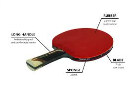 ping pong vs table tennis amazon com thunderline 6 star premium ping pong paddle bonus