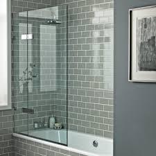 Gray Subway Tile Bathroom by Bath Screens Shower Enclosures Shop By Type Bathrooms