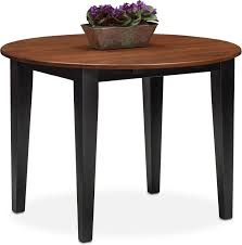 drop leaf coffee tables nantucket drop leaf table black and cherry value city furniture