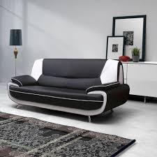 canapé simili cuir noir canape simili cuir noir et blanc conforama canapé idées de