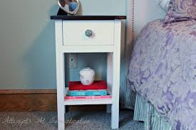Nightstand With Drawer Hand Built Nightstand With Drawer