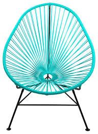 Mid Century Modern Patio Chairs Acapulco Modern Steel Lounge Chair Turquoise Midcentury Steel
