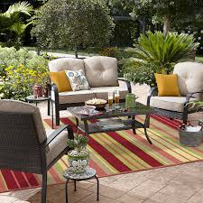 Patio Furniture Seating Sets - grand harbor logandale 4 piece seating set in tan limited