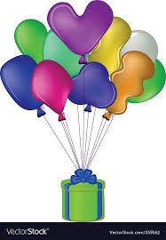 balloon gift balloon gift box royalty free vector image vectorstock