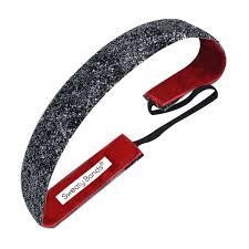 no slip headbands viva 1 inch gunmetal sparkle non slip headbands