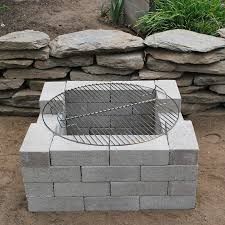 Outdoor Cinder Block Fireplace Plans - garden a little bit touching models of fire pit grate ideas diy