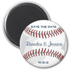 save the date wedding magnets baseball sport blue save the date wedding magnets save the