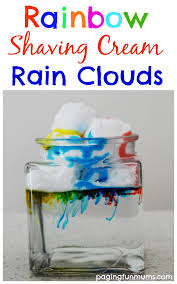 rainbow rain clouds science experiment for kids rain clouds