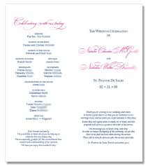 catholic mass wedding program template wedding programs pinkylv s blue wedding by color