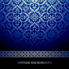 blue floral ornament vintage background vector 02 vector