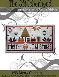 pdf download pattern quaker christmas holiday cross stitch