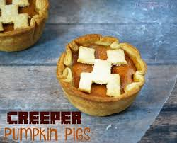 minecraft cuisine minecraft creeper mini pumpkin pies the tiptoe